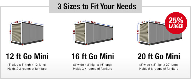 3 Sizes To Fit Your Storage Needs